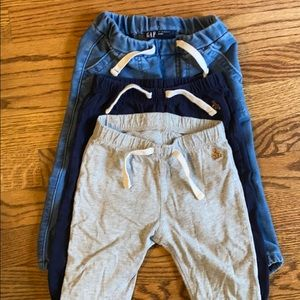 3 Baby Gap Pants 12-18 months
